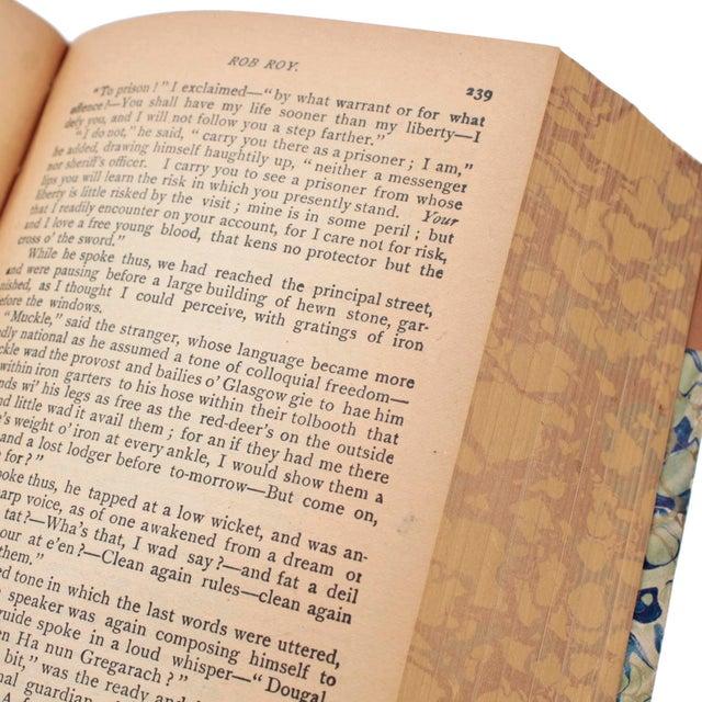 English Leather Bound Books, Scott Waverly Novels Circa 1880s, Set of 10 For Sale - Image 4 of 9