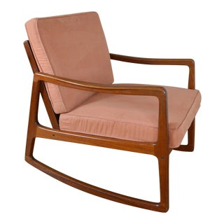 Ole Wanscher Danish Modern Teak Rocking Chair For Sale