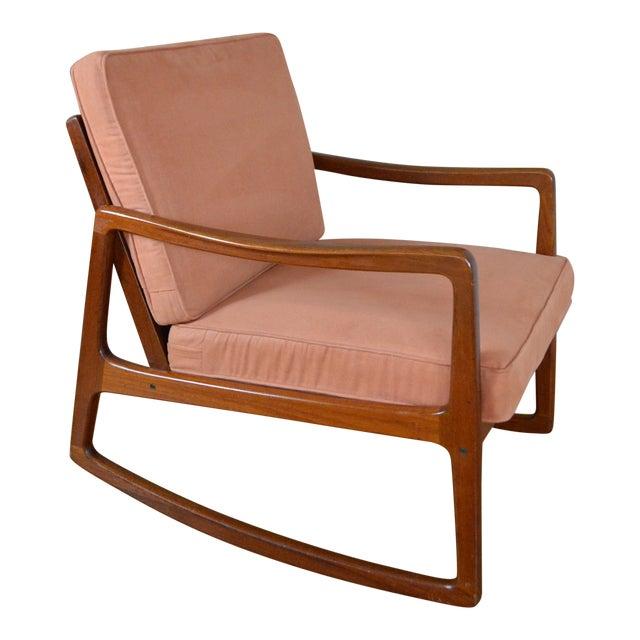 Ole Wanscher Danish Modern Teak Rocking Chair For Sale