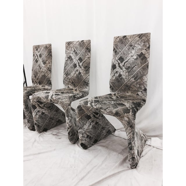Futuristic Gray Swan Chairs - Set of 3 - Image 5 of 9
