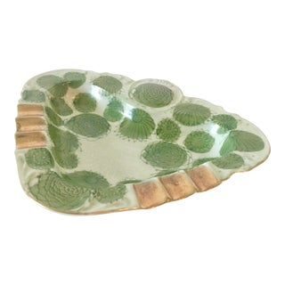 Vintage Kutani Ashtray in Green and Gold For Sale