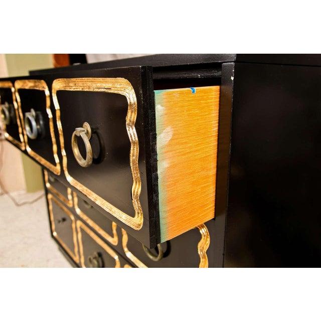 Hollywood Regency Dorothy Draper Ebonized & Gilt España Dresser For Sale - Image 3 of 5