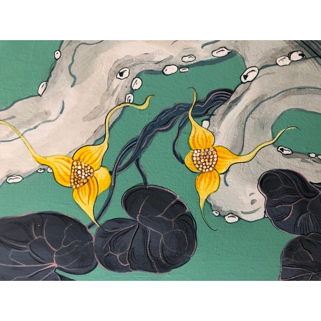 2010s The Arrival Contemporary Bird Botanic Painting For Sale - Image 5 of 12