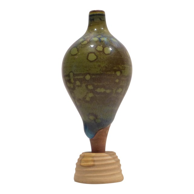 Miniature Terra Spirea Farsta Vase by Wilhelm Kage For Sale