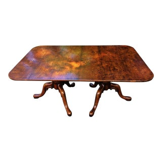 1990s Vintage Bylaw English Oak Double Pedestal Dining Table For Sale