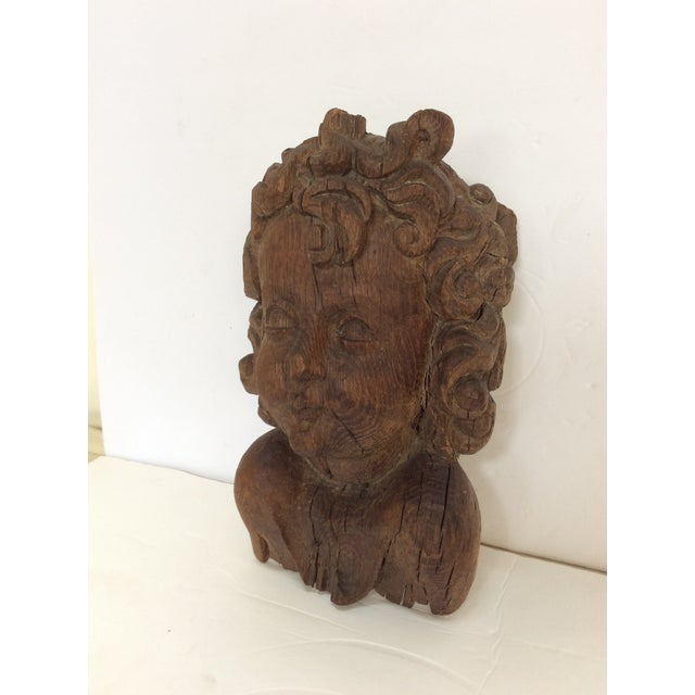 Flemish Carved Oak Cherub Head, 17th Century For Sale - Image 10 of 11
