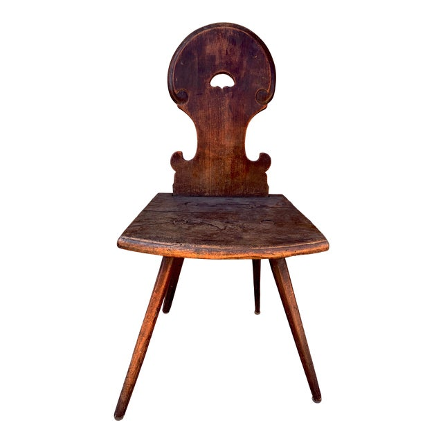 18th Century Bavarian Wooden Chair For Sale