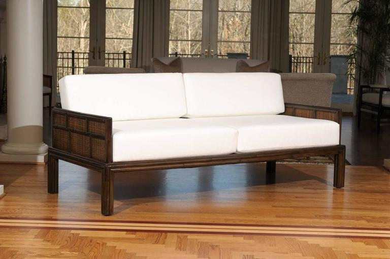 Fabulous Vintage McGuire Sofa In The Style Of Michael Taylor For Sale In  Atlanta   Image
