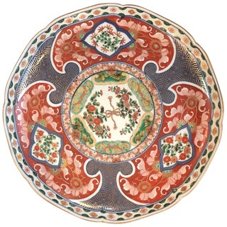 Imari Porcelain Charger Meiji Period For Sale