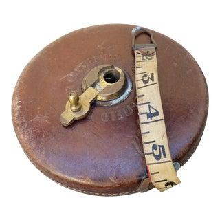 Vintage Leather Workmans Measuring Tape For Sale