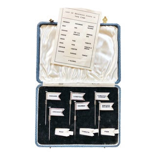 Set of 1937 Sterling Silver Sandwich Flags For Sale