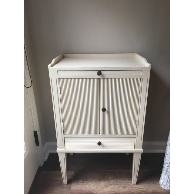 Swedish Nightstand With Pull-Out Desk - Image 6 of 6