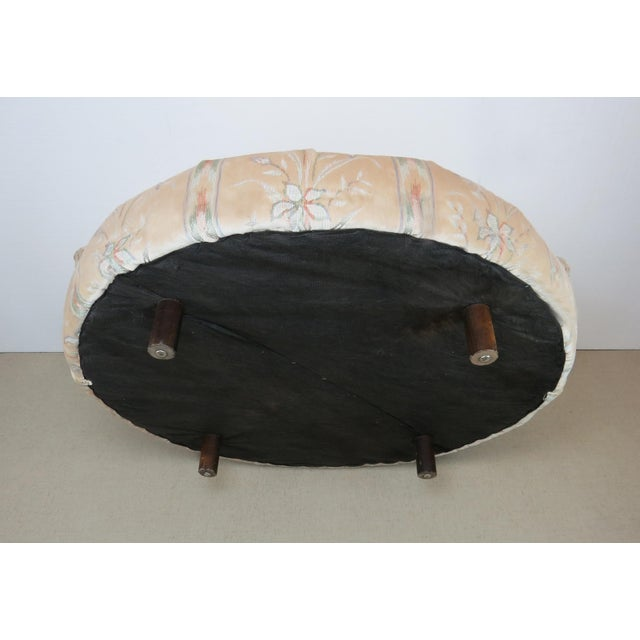 1970s Milo Baughman Style Large Round Chaise Lounge Chair on Walnut Legs For Sale - Image 11 of 13