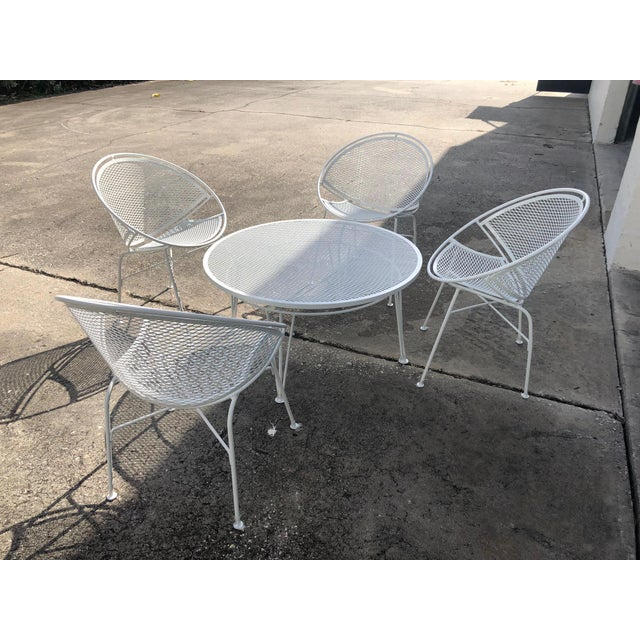 Tempestini Salterini 4 Radar Hoop Chairs and Cocktail Table - Set of 5 For Sale - Image 11 of 13