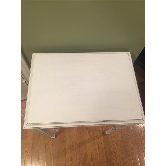 White Distressed Entry Table or Side Table - Image 4 of 5