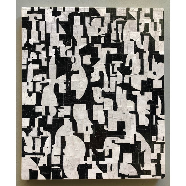 signed verso Cecil Touchon Born 1956 Austin, Texas is a contemporary American collage artist, painter, published poet and...