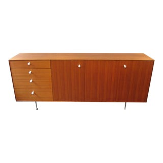 George Nelson Teak Thin Edge Credenza by Herman Miller For Sale
