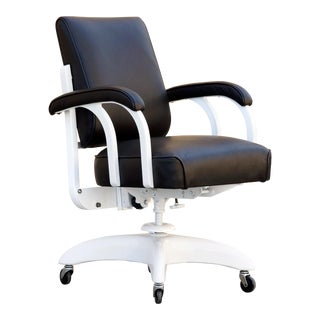 """1950s """"GoodForm"""" Double Loop Steno Chair by General Fireproofing, Refinished For Sale"""