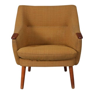 Low Back Lounge Chair With Original Textile For Sale