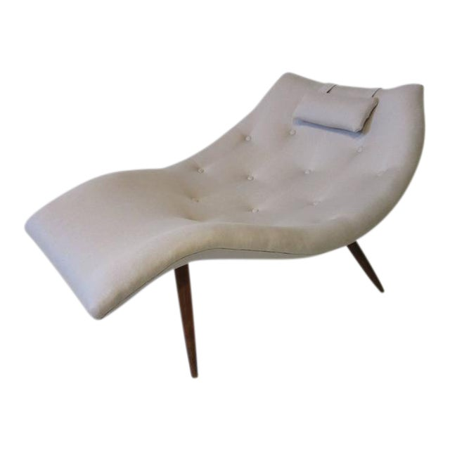 Rare Adrian Pearsall Chaise Lounge Chair For Sale
