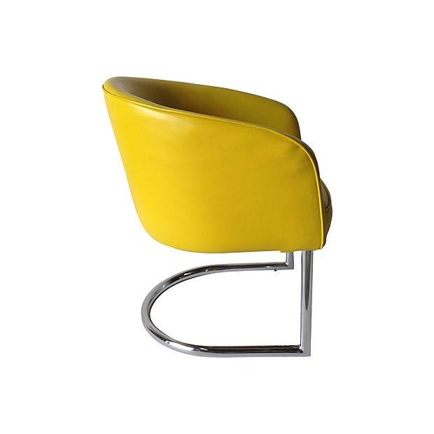 Milo Baughman Chrome Tub Club Chair - Image 4 of 7