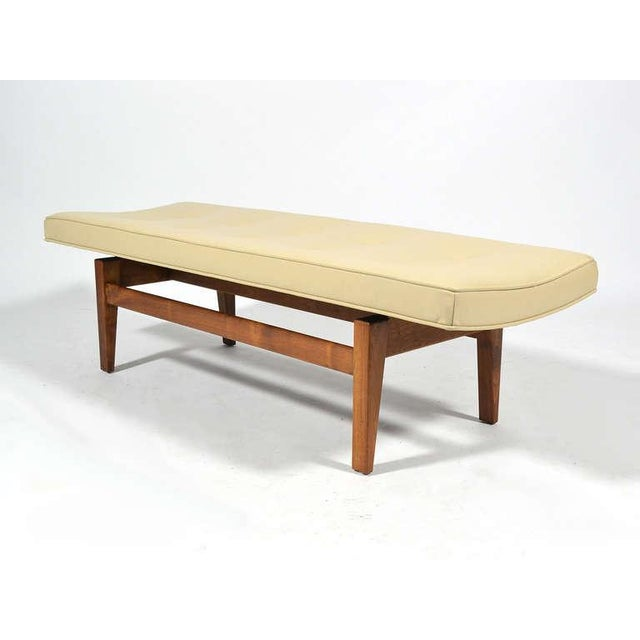 Jens Risom Floating Bench with Leather Seat - Image 3 of 9