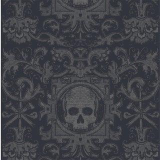 Mitchell Black Home Skull Box Black Premium Matte Paper Wallpaper For Sale