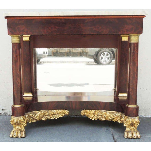 19th C New York Marble-Topped Pier Table For Sale - Image 9 of 9