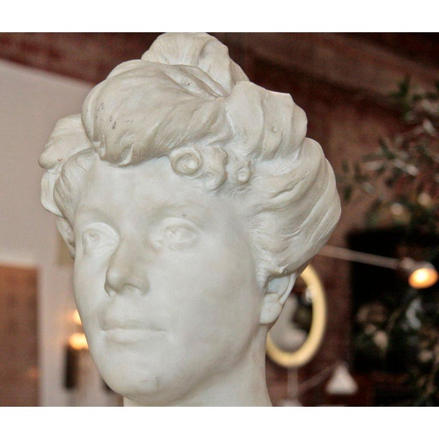 """Mid-Century Modern """"Liberty"""" Bust of a Woman, 1905 For Sale - Image 3 of 6"""