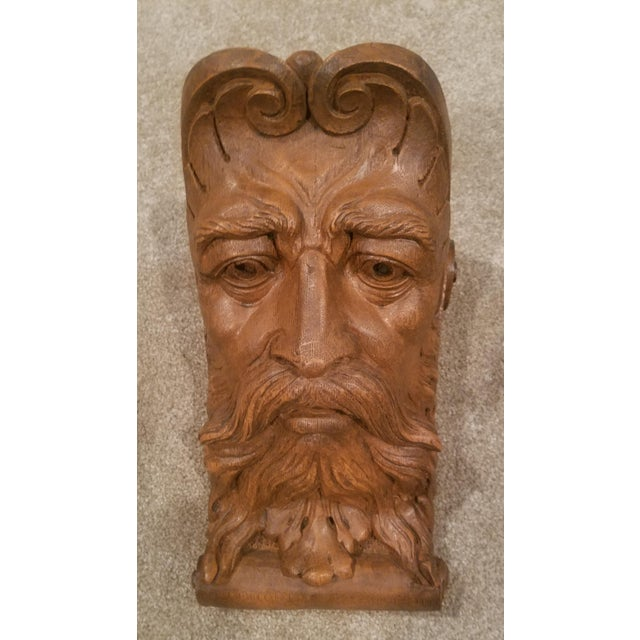 1970s Figurative Faux Bois Mythical Man Wall Corbel Shelf For Sale In Atlanta - Image 6 of 6