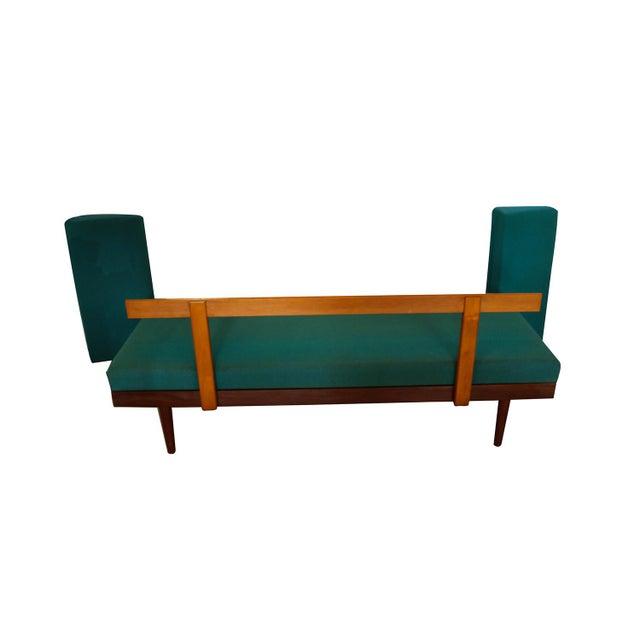 Teak Norwegian Modern Teak Daybed Sofa Pull Out Tables Edvard Kindt Larsen for Gustav Bahus For Sale - Image 7 of 10