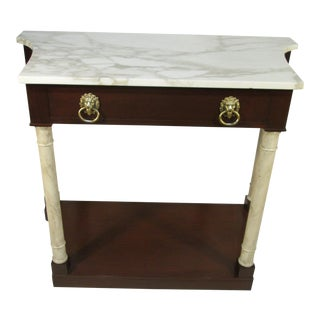 Kittinger Marble Top Console For Sale