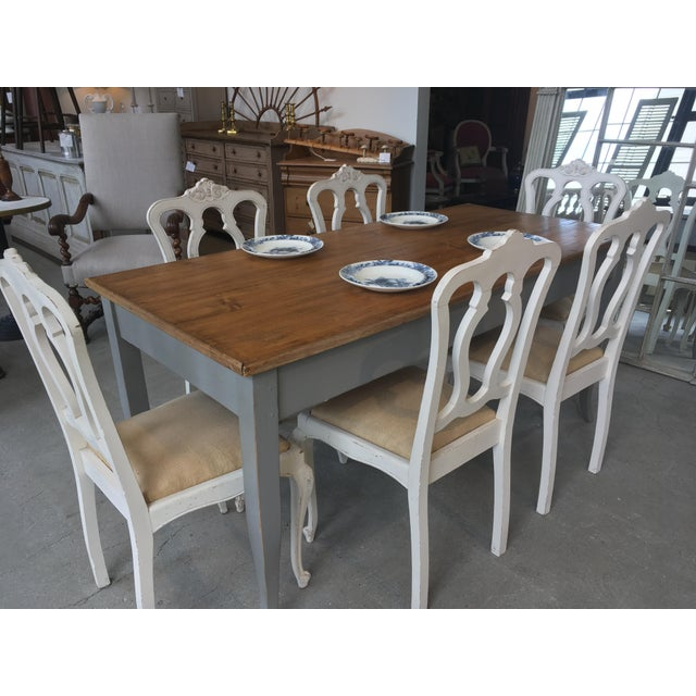 Early 20th Century Set of Six Vintage French Chairs For Sale - Image 5 of 8