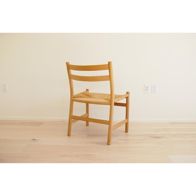 1965 Hans Wegner for Carl Hansen & Son Oak Dining Armchairs - Set of 6 For Sale - Image 9 of 13