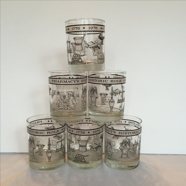 Pharmacy Cocktail Glasses - Set of 6 For Sale - Image 10 of 11