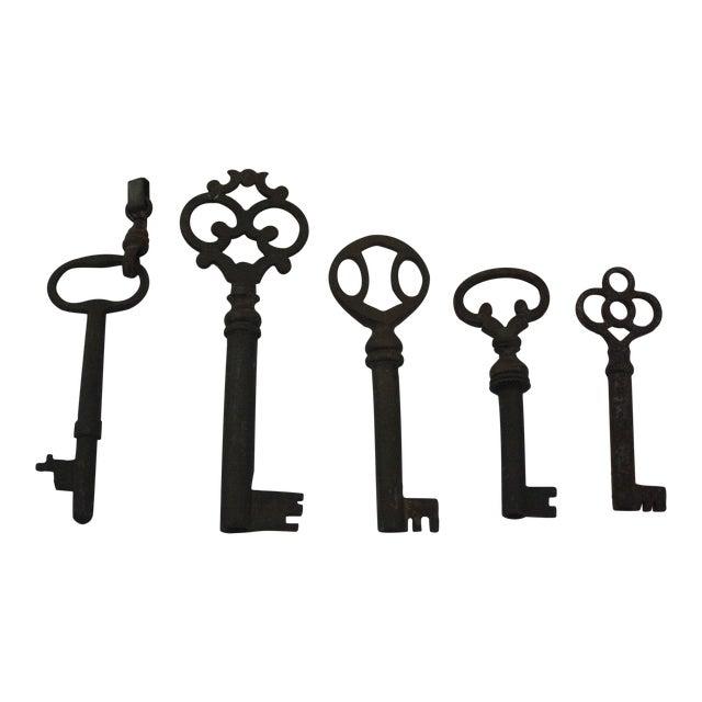 Vintage Skeleton Keys - Set of 5 - Image 1 of 3
