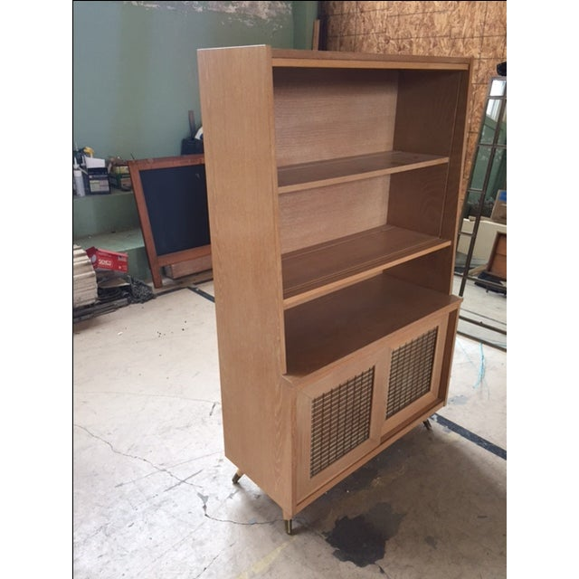 Mid-Century Blonde Hutch - Image 4 of 5