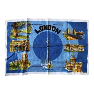 Vintage London Tea Towel For Sale