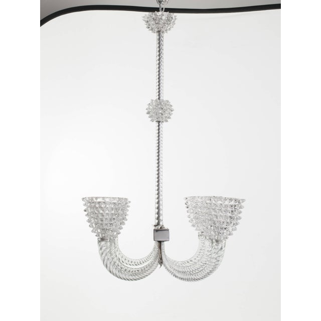 1930s Murano Glass Chandelier by Ercole Barovier For Sale - Image 5 of 11