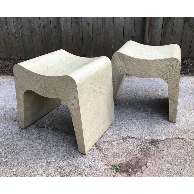 Curvilinear 1980s Stools — a Pair For Sale - Image 4 of 11