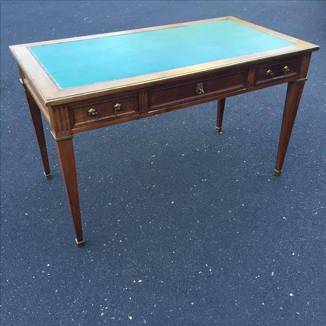 Antique Regency Leather Top Writing Desk - Image 2 of 9