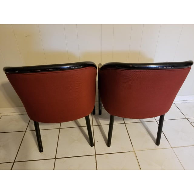 Wood Vintage Mid Century Modern Ward Bennett Chairs- A Pair For Sale - Image 7 of 12