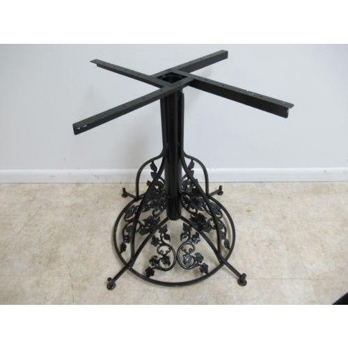 Vintage French Regency Metal Ivy Dining Table Base For Sale - Image 4 of 11