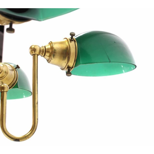 Emerald and Glass Brass Light Fixture For Sale In New York - Image 6 of 9