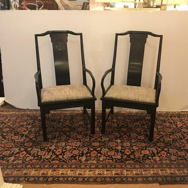 Mid-Century Modern Asian Style Armchairs - a Pair For Sale - Image 12 of 12