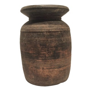 19th Century Turned Wooden Jar For Sale
