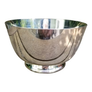 Vintage Reed and Barton Colonial Style Classic Silver Plate Bowl For Sale