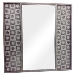 Geometric Circles & Cube Steel & Nickel Mirror
