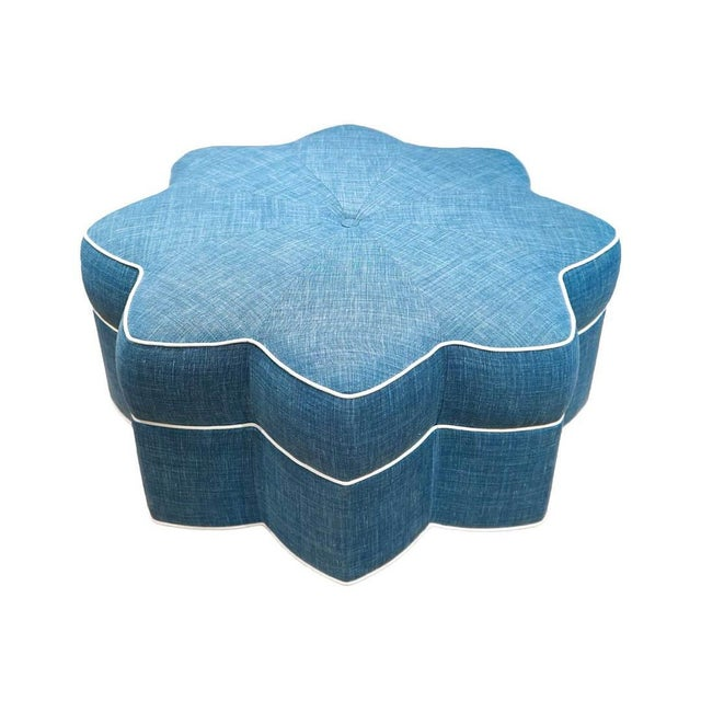 Stella Star Shaped Upholstered Ottoman For Sale - Image 4 of 4