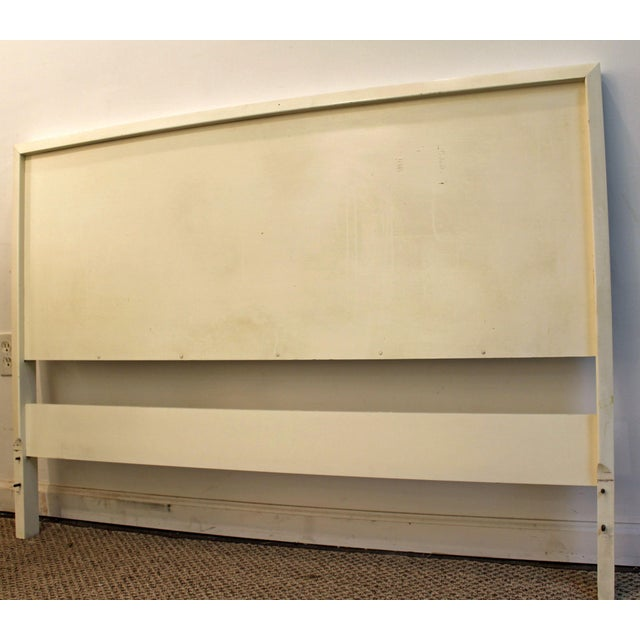 Paul McCobb Mid-Century Danish Modern White Paul McCobb Planner Group Full Size Headboard For Sale - Image 4 of 11
